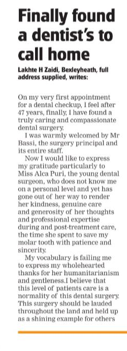 Bellegrove Dental Review 201801 in the Bexley Times